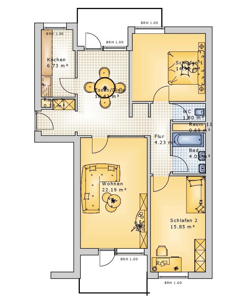 Grundriss Wohnung Nr. 41