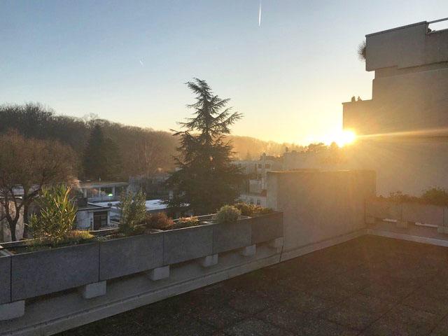Sonnenaufgang Terrasse