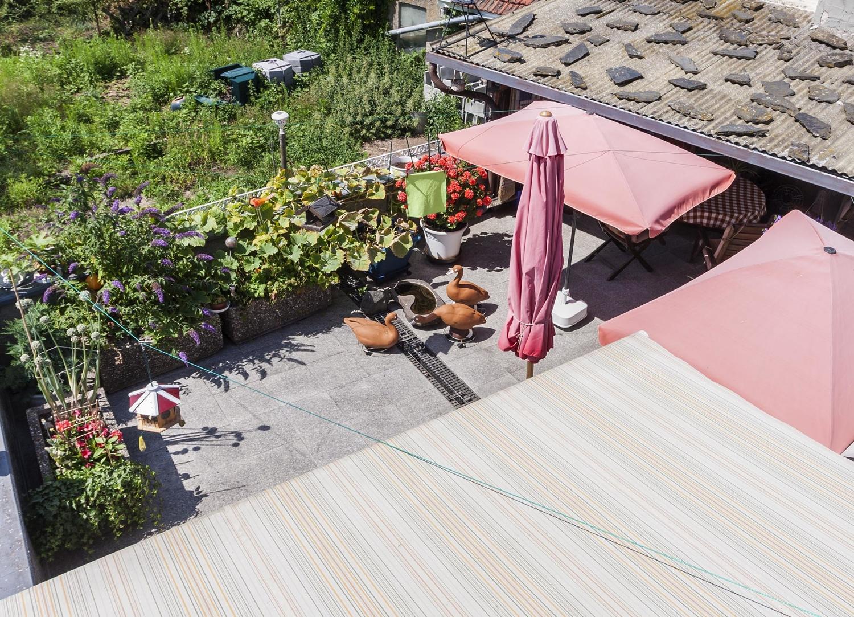 Blick auf die Terrasse 1. OG