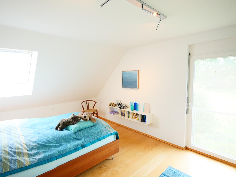 Schlafzimmer mit französischem Balkon
