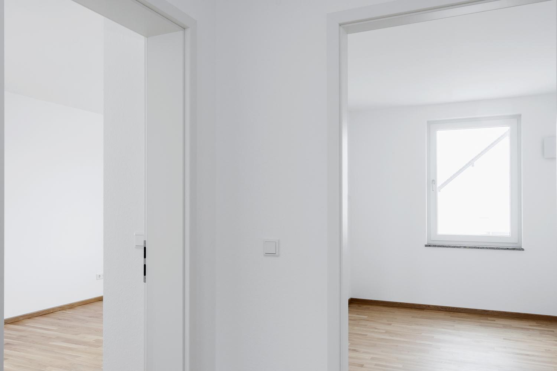 Blick in beide Schlafzimmer